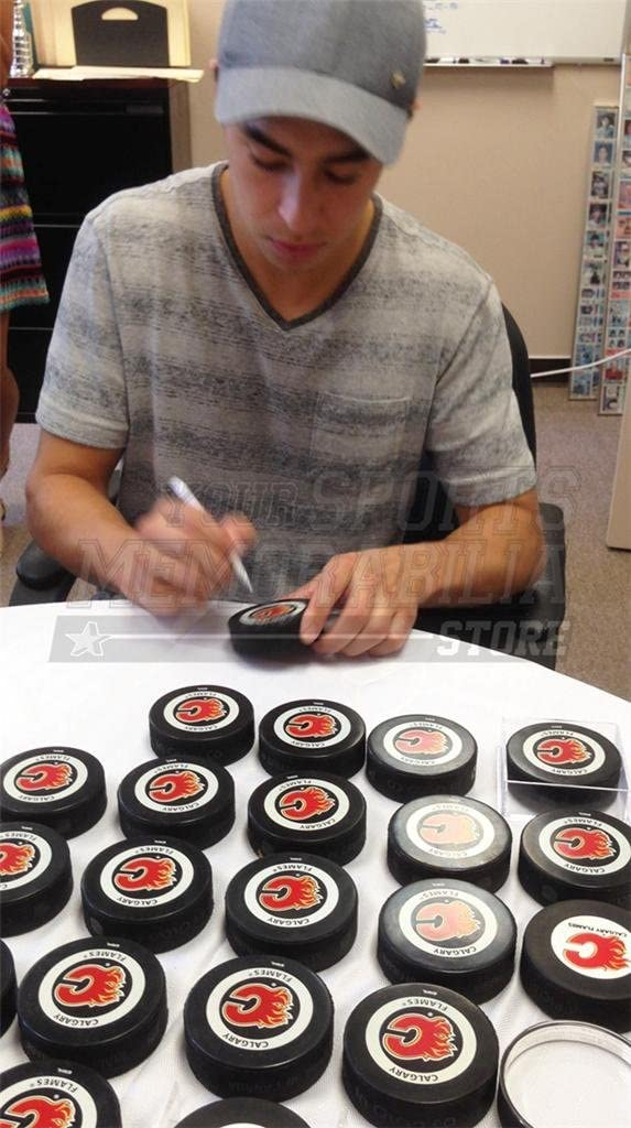Johnny Gaudreau Calgary Flames Signed Autographed Official Game Hockey Puck