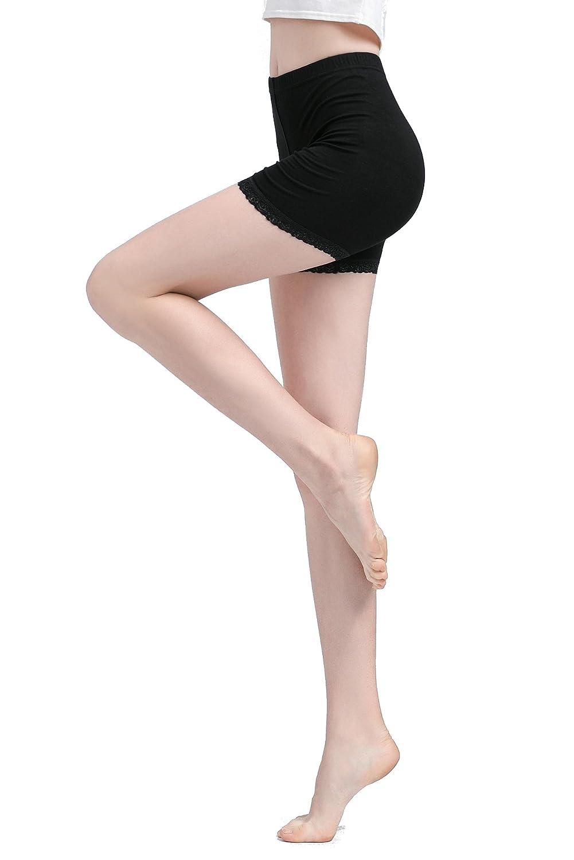 3d0dab70766d04 Vinconie Damen Shorts Spitze Leggings Kurz Hotpants Yoga Unterhose Softe  reizend