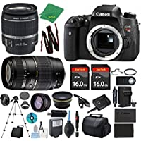 Canon Rebel T6S Camera + 18-55mm IS STM + Tamron 70-300mm AF + 2pcs 16GB Memory + Case + Reader + Tripod + ZeeTech Starter Set + Wide Angle + Tele + Flash + Battery + Charger