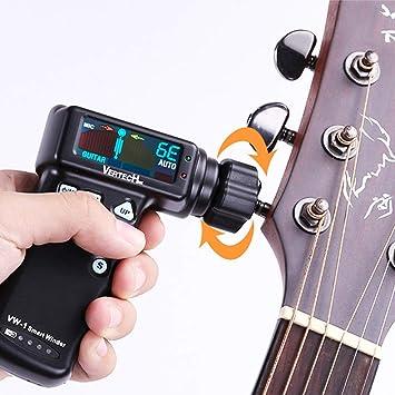 YGQersh Guitarra eléctrica acústica recargable sintonización automática Tun Tuner Winder - Negro: Amazon.es: Instrumentos musicales