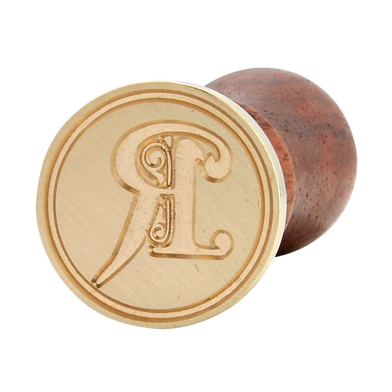 Seal Wax Stamp, Yoption Vintage Retro Brass Head Wooden Handle Gothic Font Letter Initial Sealing Wax Stamp Classic Wax Seal Stamp (R)