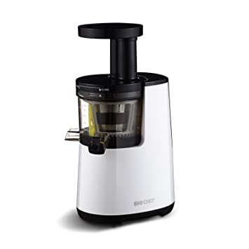 BioChef Atlas COLD PRESS - Extractor de zumos, Slow Juicer, Licuadora en frío de 150W y 60 RPM, Blanco: Amazon.es: Hogar