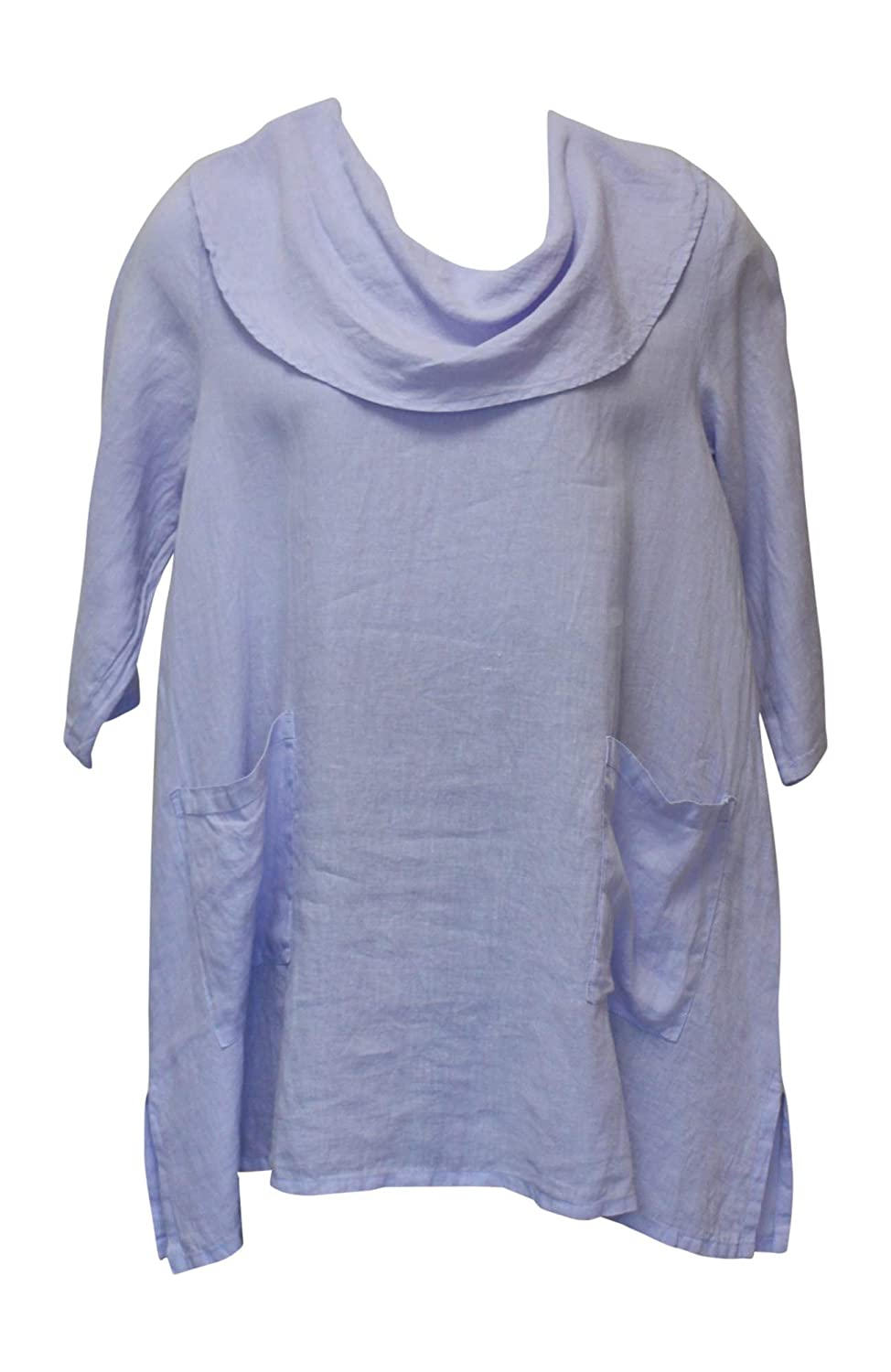 2X Match Point Womens Cowl Neck Linen Tunic Top sizes Small
