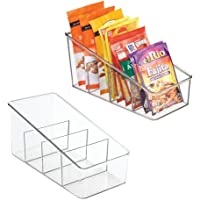 mDesign Large Plastic Food Packet Organizer Caddy, Fridge or Freezer - Storage for Kitchen, Pantry, Cabinet, Countertop…
