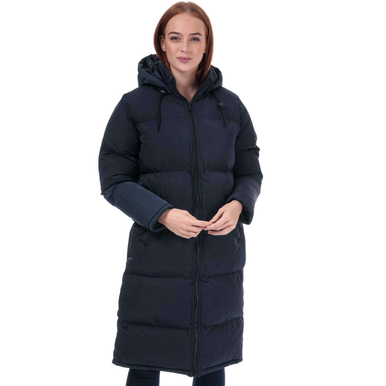 gef/üttert Brave Soul Damen Mantel mit Kapuze Marineblau