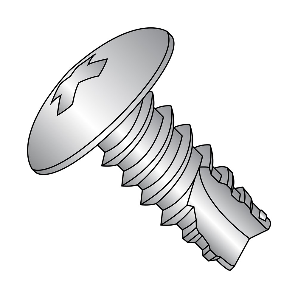 #6-20 Thread Size 1//2 Length Type 25 Plain Finish Pack of 50 Pack of 50 18-8 Stainless Steel Thread Cutting Screw Truss Head 1//2 Length Small Parts 06085PT188 Phillips Drive