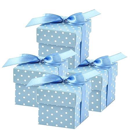 c744db458fd96d 50 Stück Süße Geschenkboxen (blau) Gastgeschenk für Hochzeit Babyparty Taufe  Geburt