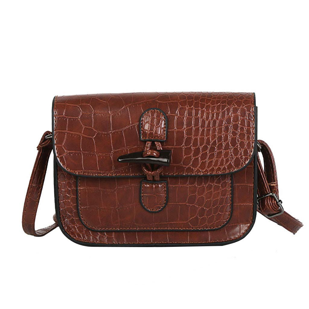855b9c14ac9d Amazon.com: Rakkiss Solid Crossbody Bag Leather Messenger Bag ...