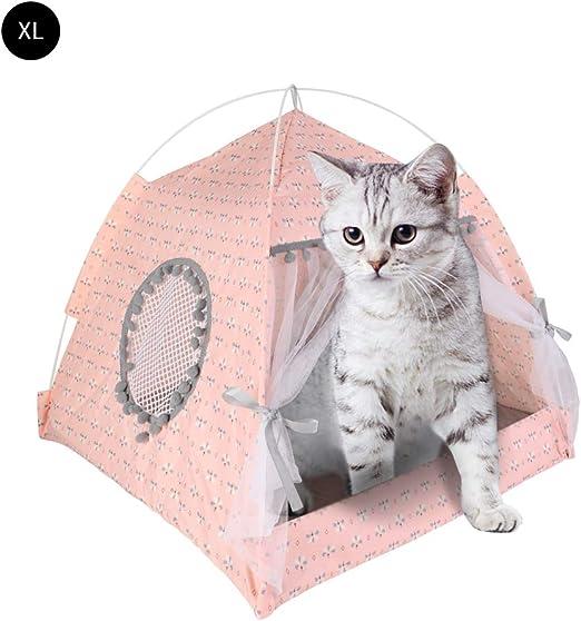 laamei Casa de Cama para Gato, Cat Igloo 2 en 1, autocalentable, cómoda Cama Triangular para Gato, casa de cestas para Mascotas: Amazon.es: Productos para mascotas