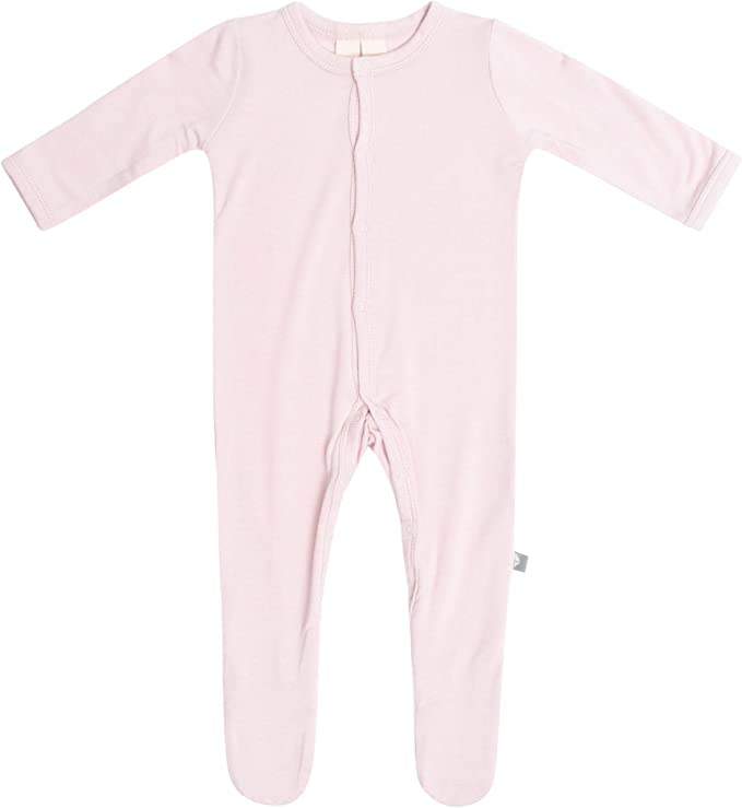 Baby Footed Pajamas Made of Soft Organic Bamboo Material Solid Colors KYTE BABY Footies 0-3 Months, Sage 0-24 Months