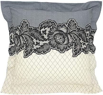 Linnea MALICE - Funda de almohada, 100% algodón, 65 x 65 cm ...
