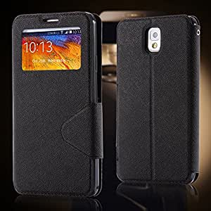 Stand Design Flip Case for Samsung Galaxy Note 3 N9000 Leather Phone Cover ,Card Slot 10pcs/lot free ship --- Color:White