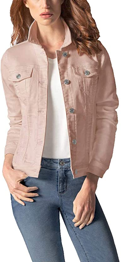Buffalo David Bitton Ladies/' Stretch Knit Denim Jacket Gray Size Medium