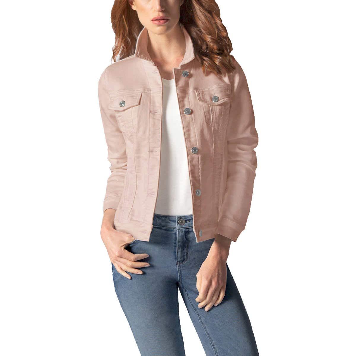 Pink Buffalo David Bitton Women/'s Knit Denim Stretch Jacket