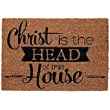 Christ is the Head of This House 16 x 24 Coconut Fibre Home Doormat