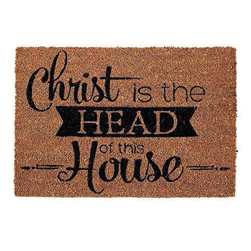- Dicksons Christ is The Head of This House 16 x 24 Coconut Fibre Home Doormat
