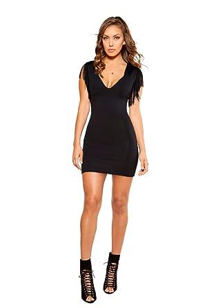 5b286087f38 Amazon.com: Roma Costume Short Sleeve Fringe Dress, Fringe Mini ...