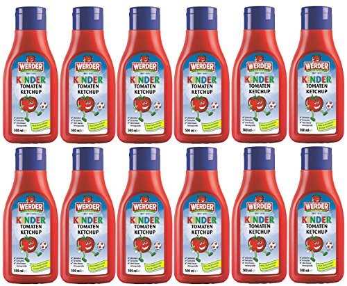WERDER 12 x Kinder Tomaten Ketchup