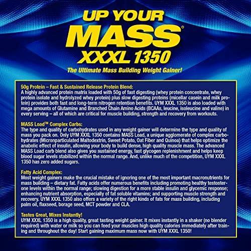 SPORTS NUTRITION SOURCE MHP Up Your Mass Xxxl 1350 Mass Build mit Kohlenhydraten, Kreatin und Glutaminplätzchen, French Vanilla, 1er Pack (1 x 2721 g)