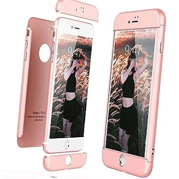 Funda para iPhone 7 Plus/8 Plus Custodia de 360°Caja protectora PC Shell,Carcasa iPhone 7 Plus/8 Plus Silicona Snap On Diseño Antigolpes Choque ...