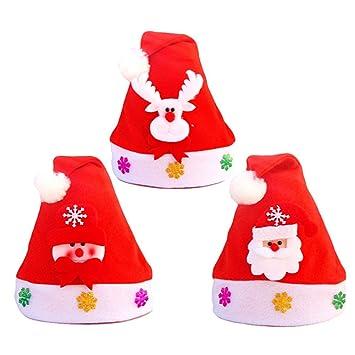 20a4b8cbd4917 Amazon.com  3pcs Christmas Santa Hat