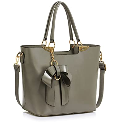 149a1481769d New Womens Designer Bags Ladies Fashion Handbags Tote Patent Shoulder Faux  Leather Celebrity Style (A