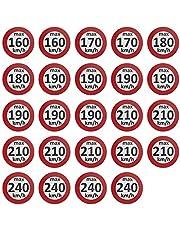 AUPROTEC snelheidssticker winterbanden sticker 160-240 km/h Sortiment gemischt Set 48 stuks.