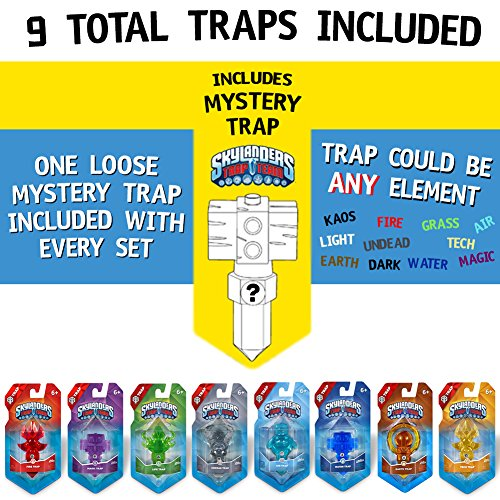 Skylanders Trap Team Element Value Trap Pack 9 Traps by ColorBoxCrate - Includes Fire Trap, Tech Trap, Undead Trap, Magic Trap, Life Trap, Earth Trap, Air Trap, Water Trap, and one random Mystery Trap by Skylanders Trap Team Traps (Image #4)