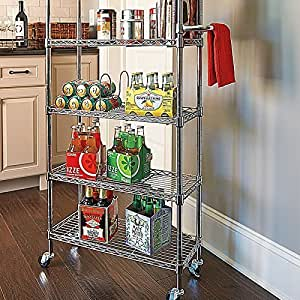 6 Shelf Pantry Rack - Red by Improvements