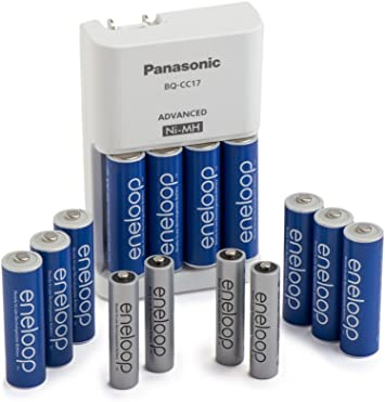 battery color may vary 4AAA and Advanced Battery Charger Panasonic K-KJ17MZ104A eneloop Power Pack; 10AA