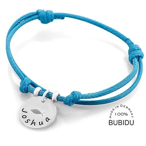 Taufarmband Junge Mit Gravur Blau Armband Tauffisch