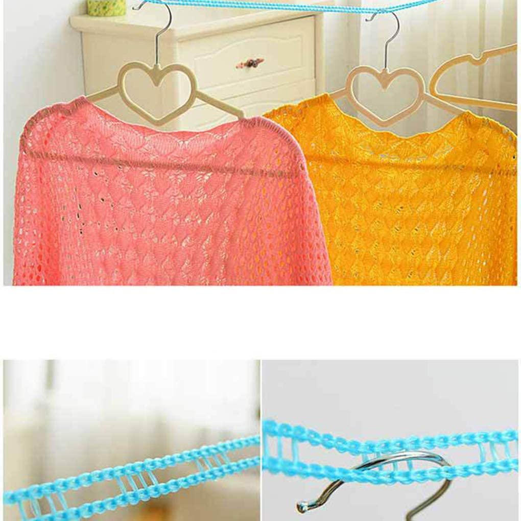 Techting Color al Azar 3//5 Metro de Largo al Aire Libre para Tender la Ropa de Nylon Antideslizante lavander/ía Cuerda de la l/ínea de Negocio de Viajes Ropa Cord/ón