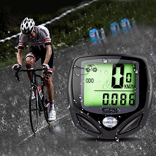 YOHOOLYO Bike Computer Odometers Bicycle Speedometer Wireless Waterproof Multi Function With Backlight