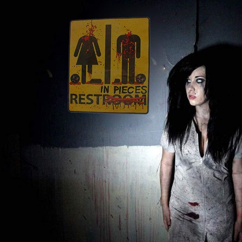 Halloween Horror Party Decorative Bloody Restroom Bathroom Door Sign Sticker (43x31cm)