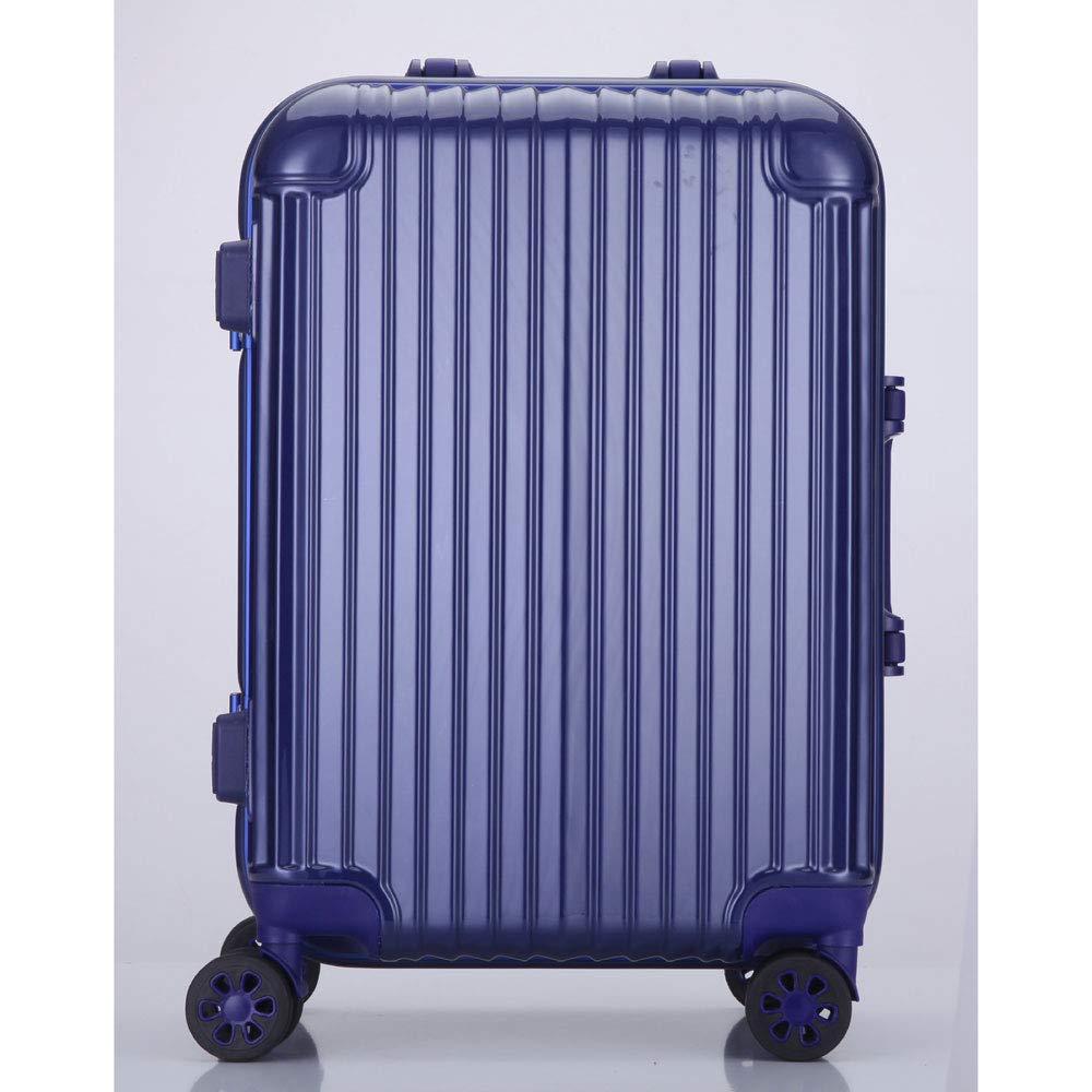 新しいトロリーケースユニバーサルホイール28アルミフレームの荷物無色24インチのスーツケース20インチのパスワード搭乗シャーシ (Color : Royal blue, Size : 26 inches)   B07R2LNR6V