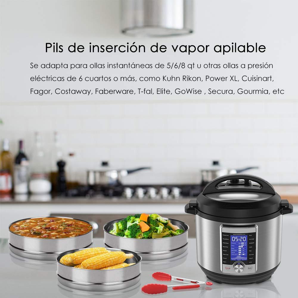 Accesorios para la olla a presión instantánea - Cocine 3 platos de ...