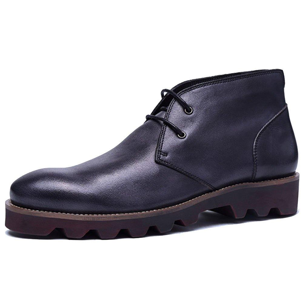 ZPJSZ Männer England Vier Jahreszeiten Lässig Stiefelies Mode Jugend Spitze Martin Stiefel,schwarz-38