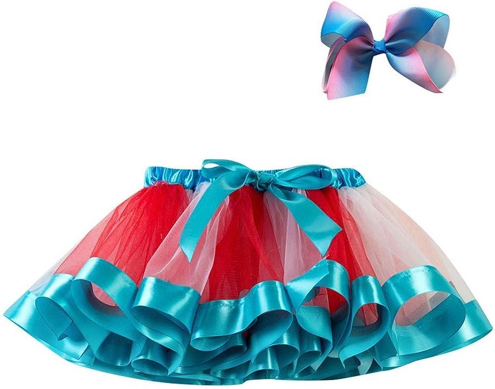 3-8 Years NIHAI Girls Skirt Polyester Childrens Half Body Skirt Star Solid Color Tulle Fashion Tutu Skirt