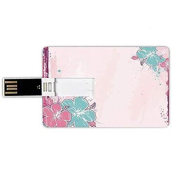 8GB Forma de tarjeta de crédito de unidades flash USB Flor ...