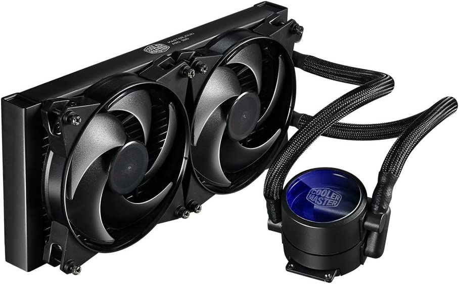 Cooler Master MasterLiquid Pro 280 CPU Cooler, All-In-One Liquid Cooler with FlowOp Technology, Dual Chamber Design, 140mm x 2 MasterFan Pro Fans