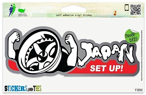 Amazon.com: Llantas Japón Set Up Tuning vinilo pegatina para ...