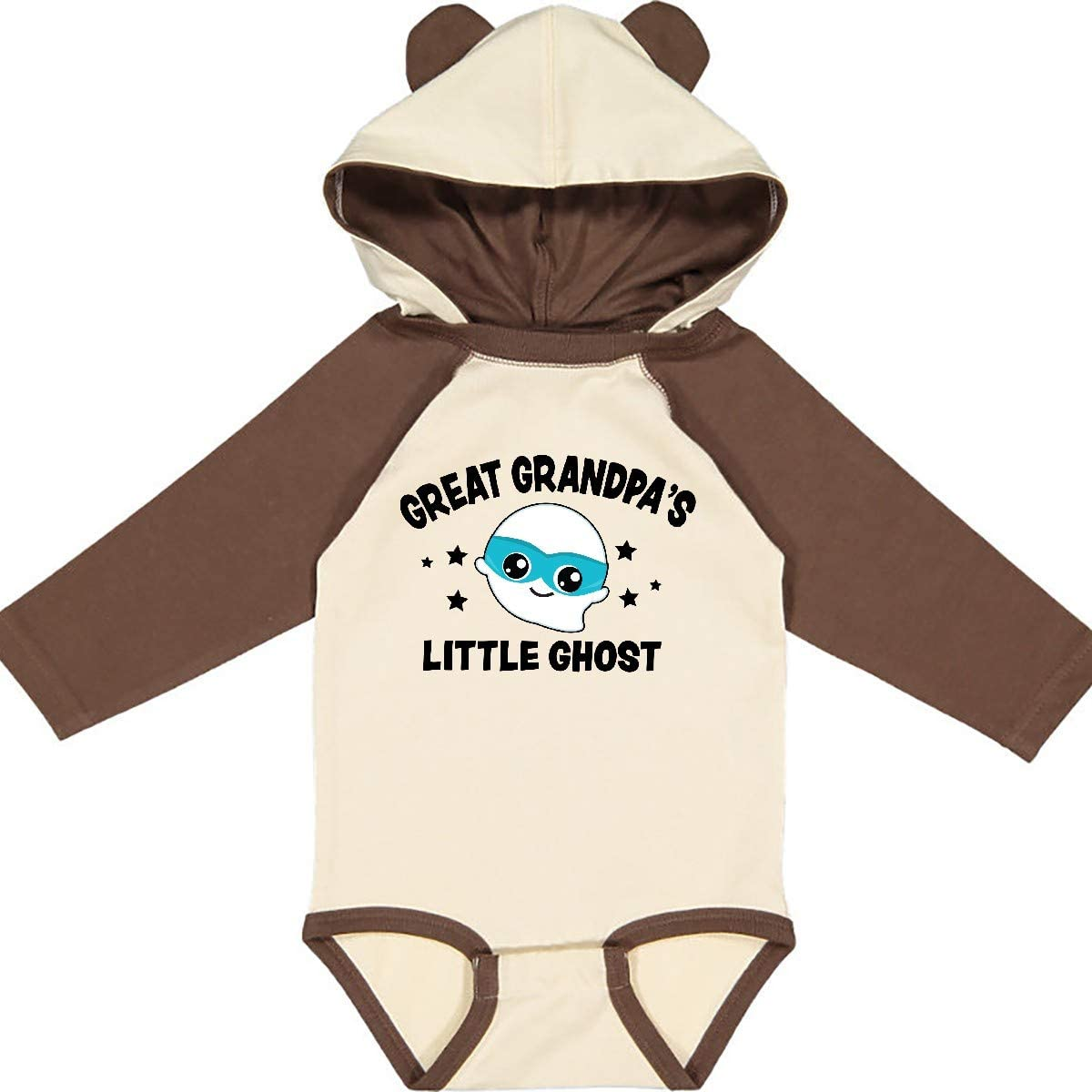 inktastic Cute Great Grandpas Little Ghost with Stars Long Sleeve Creeper