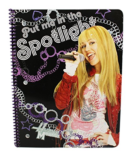 (Disney's Hannah Montana Black and Purple Colored Spiral Notebook)