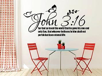 John 3:16 Bible Quote Christian Wall Sticker Vinyl Decal