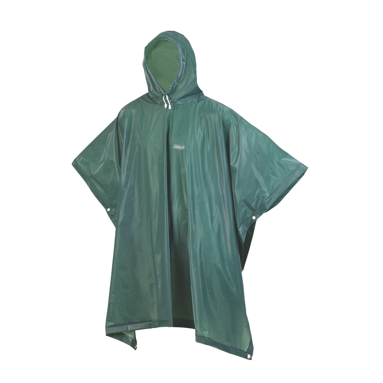 One Size Blue Coleman Rain Poncho Adult Waterproof Poncho