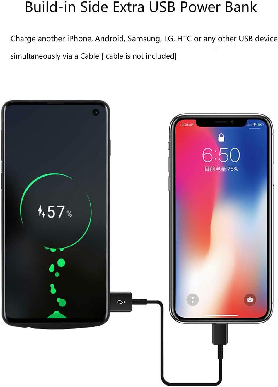 Chargeur de Batterie /étendu Noir 5000 mAh Portable Charge Case Batterie Rechargeable pour Samsung Galaxy S10e 5,8 Pouces Fey-EU Coque de Batterie pour Samsung S10e