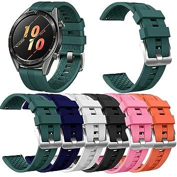 Yushiwu Pulsera para Huawei Watch Gt2 46mm,Reemplazo De ...