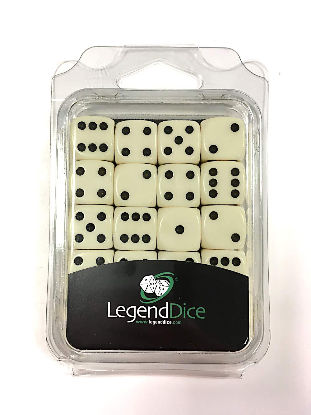 Black // white spots LegendDice 16mm Dice x 20 Retail Packed