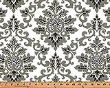 Fabric Shower Curtain - CECILIA SHADOW BLACK/WHITE - 72'' Width x (72'', 74'', 78'', 84'', 90'', 96'') Length