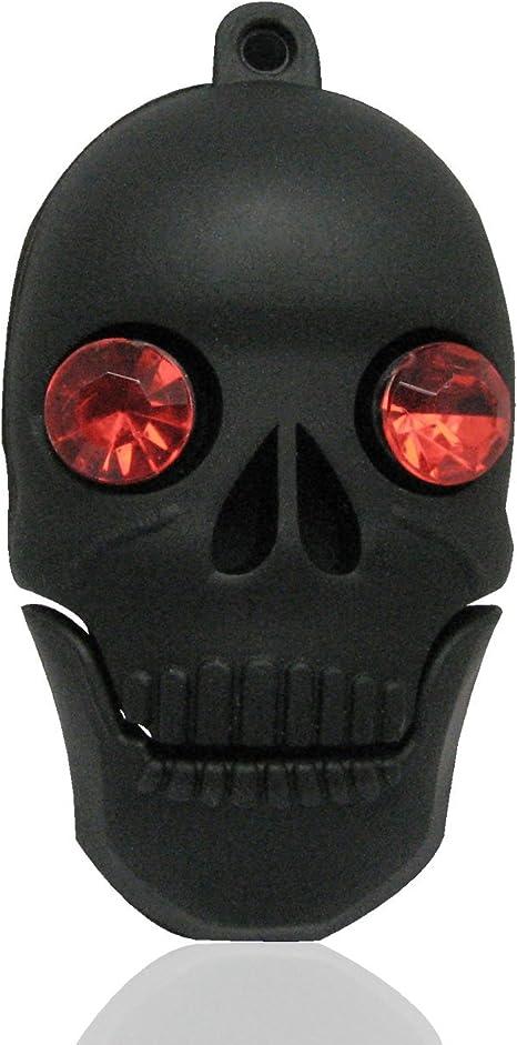 Tienda 818 no1890006 USB Stick Calavera Cristal Ojos 3D Negro ...